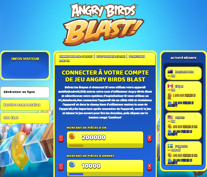 Angry birds blast triche astuce pi ces d or pi ces d argent - Telecharger angry birds gratuit ...