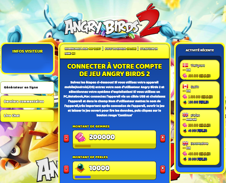 Angry birds 2 triche astuce en ligne gemmes et perles - Angry birds gratuit en ligne ...