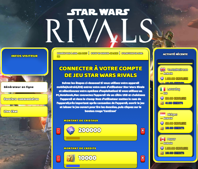 Star Wars Rivals triche, Star Wars Rivals triche en ligne, Star Wars Rivals triche android, Star Wars Rivals triche Cristaux et Credits gratuit, Star Wars Rivals triche illimite Cristaux et Credits, Star Wars Rivals triche ios, Star Wars Rivals triche ipad, Star Wars Rivals triche iphone, Star Wars Rivals gratuit Cristaux et Credits, Star Wars Rivals triche samsung galaxy, Star Wars Rivals triche telecharger, Star Wars Rivals tricher, Star Wars Rivals tricheu, Star Wars Rivals tricheur, triche Star Wars Rivals, code de triche Star Wars Rivals, Star Wars Rivals astuce, Star Wars Rivals astuce en ligne, Star Wars Rivals astuce android, Star Wars Rivals astuce gratuit, Star Wars Rivals astuce ios, Star Wars Rivals astuce iphone, Star Wars Rivals astuce telecharger, Star Wars Rivals astuces, Star Wars Rivals astuces gratuit, Star Wars Rivals astuces android, Star Wars Rivals astuces ios,, Star Wars Rivals astuces telecharger, Star Wars Rivals astuce Cristaux et Credits, Star Wars Rivals cheat, Star Wars Rivals cheats, Star Wars Rivals cheat Cristaux et Credits, Star Wars Rivals cheat gratuit, Star Wars Rivals cheat iphone, Star Wars Rivals cheat telecharger, Star Wars Rivals hack online, Star Wars Rivals hack generator, Star Wars Rivals hack android, Star Wars Rivals hack Cristaux et Credits, Star Wars Rivals illimité Cristaux et Credits, Star Wars Rivals mod apk, Star Wars Rivals mod apk Cristaux et Credits, Star Wars Rivals mod apk android, Star Wars Rivals outil, Star Wars Rivals outil de piratage, Star Wars Rivals pirater, Star Wars Rivals pirater en ligne, Star Wars Rivals pirater android, Star Wars Rivals pirater Cristaux et Credits, Star Wars Rivals pirater gratuit, Star Wars Rivals pirater ios, Star Wars Rivals pirater iphone, Star Wars Rivals pirater illimite Cristaux et Credits, Star Wars Rivals triche jeu, Star Wars Rivals astuce triche en ligne, comment tricheur sur Star Wars Rivals, Cristaux et Credits gratuit dans Star Wars Rivals, Star Wars Rivals illimite Cristaux et Credits, Star Wars Rivals hacken, Star Wars Rivals beschummeln, Star Wars Rivals betrügen, Star Wars Rivals betrügen Cristaux et Credits, Star Wars Rivals unbegrenzt Cristaux et Credits, Star Wars Rivals Cristaux et Credits frei, Star Wars Rivals hacken Cristaux et Credits, Star Wars Rivals Cristaux et Credits gratuito, Star Wars Rivals mod Cristaux et Credits, Star Wars Rivals trucchi, Star Wars Rivals engañar