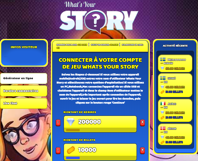 Whats Your Story triche, Whats Your Story triche en ligne, Whats Your Story triche android, Whats Your Story triche Gemmes et Billets gratuit, Whats Your Story triche illimite Gemmes et Billets, Whats Your Story triche ios, Whats Your Story triche ipad, Whats Your Story triche iphone, Whats Your Story gratuit Gemmes et Billets, Whats Your Story triche samsung galaxy, Whats Your Story triche telecharger, Whats Your Story tricher, Whats Your Story tricheu, Whats Your Story tricheur, triche Whats Your Story, code de triche Whats Your Story, Whats Your Story astuce, Whats Your Story astuce en ligne, Whats Your Story astuce android, Whats Your Story astuce gratuit, Whats Your Story astuce ios, Whats Your Story astuce iphone, Whats Your Story astuce telecharger, Whats Your Story astuces, Whats Your Story astuces gratuit, Whats Your Story astuces android, Whats Your Story astuces ios,, Whats Your Story astuces telecharger, Whats Your Story astuce Gemmes et Billets, Whats Your Story cheat, Whats Your Story cheats, Whats Your Story cheat Gemmes et Billets, Whats Your Story cheat gratuit, Whats Your Story cheat iphone, Whats Your Story cheat telecharger, Whats Your Story hack online, Whats Your Story hack generator, Whats Your Story hack android, Whats Your Story hack Gemmes et Billets, Whats Your Story illimité Gemmes et Billets, Whats Your Story mod apk, Whats Your Story mod apk Gemmes et Billets, Whats Your Story mod apk android, Whats Your Story outil, Whats Your Story outil de piratage, Whats Your Story pirater, Whats Your Story pirater en ligne, Whats Your Story pirater android, Whats Your Story pirater Gemmes et Billets, Whats Your Story pirater gratuit, Whats Your Story pirater ios, Whats Your Story pirater iphone, Whats Your Story pirater illimite Gemmes et Billets, Whats Your Story triche jeu, Whats Your Story astuce triche en ligne, comment tricheur sur Whats Your Story, Gemmes et Billets gratuit dans Whats Your Story, Whats Your Story illimite Gemmes et Billets, W