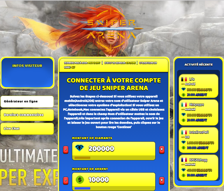 Sniper Arena triche, Sniper Arena triche en ligne, Sniper Arena triche android, Sniper Arena triche Diamants et Argent gratuit, Sniper Arena triche illimite Diamants et Argent, Sniper Arena triche ios, Sniper Arena triche ipad, Sniper Arena triche iphone, Sniper Arena gratuit Diamants et Argent, Sniper Arena triche samsung galaxy, Sniper Arena triche telecharger, Sniper Arena tricher, Sniper Arena tricheu, Sniper Arena tricheur, triche Sniper Arena, code de triche Sniper Arena, Sniper Arena astuce, Sniper Arena astuce en ligne, Sniper Arena astuce android, Sniper Arena astuce gratuit, Sniper Arena astuce ios, Sniper Arena astuce iphone, Sniper Arena astuce telecharger, Sniper Arena astuces, Sniper Arena astuces gratuit, Sniper Arena astuces android, Sniper Arena astuces ios,, Sniper Arena astuces telecharger, Sniper Arena astuce Diamants et Argent, Sniper Arena cheat, Sniper Arena cheats, Sniper Arena cheat Diamants et Argent, Sniper Arena cheat gratuit, Sniper Arena cheat iphone, Sniper Arena cheat telecharger, Sniper Arena hack online, Sniper Arena hack generator, Sniper Arena hack android, Sniper Arena hack Diamants et Argent, Sniper Arena illimité Diamants et Argent, Sniper Arena mod apk, Sniper Arena mod apk Diamants et Argent, Sniper Arena mod apk android, Sniper Arena outil, Sniper Arena outil de piratage, Sniper Arena pirater, Sniper Arena pirater en ligne, Sniper Arena pirater android, Sniper Arena pirater Diamants et Argent, Sniper Arena pirater gratuit, Sniper Arena pirater ios, Sniper Arena pirater iphone, Sniper Arena pirater illimite Diamants et Argent, Sniper Arena triche jeu, Sniper Arena astuce triche en ligne, comment tricheur sur Sniper Arena, Diamants et Argent gratuit dans Sniper Arena, Sniper Arena illimite Diamants et Argent, Sniper Arena hacken, Sniper Arena beschummeln, Sniper Arena betrügen, Sniper Arena betrügen Diamants et Argent, Sniper Arena unbegrenzt Diamants et Argent, Sniper Arena Diamants et Argent frei, Sniper Arena hacken Diamants et Argent, Sniper Arena Diamants et Argent gratuito, Sniper Arena mod Diamants et Argent, Sniper Arena trucchi, Sniper Arena engañar