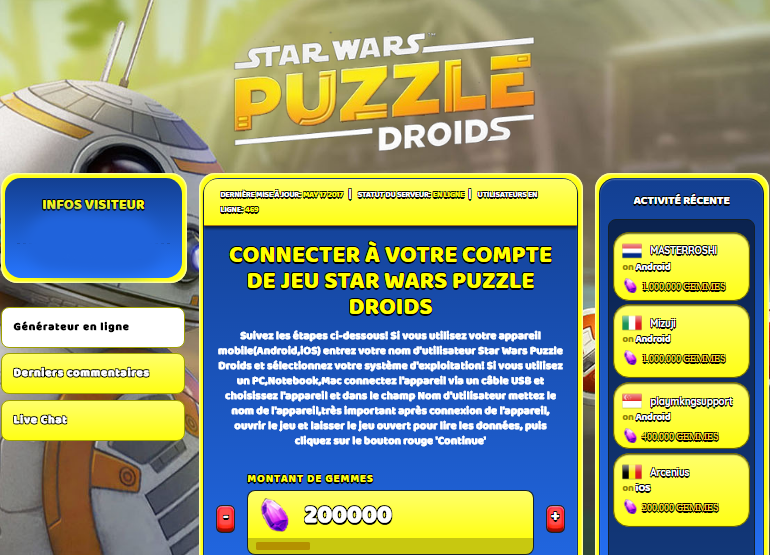 Star Wars Puzzle Droids triche, Star Wars Puzzle Droids triche en ligne, Star Wars Puzzle Droids triche android, Star Wars Puzzle Droids triche Gemmes gratuit, Star Wars Puzzle Droids triche illimite Gemmes, Star Wars Puzzle Droids triche ios, Star Wars Puzzle Droids triche ipad, Star Wars Puzzle Droids triche iphone, Star Wars Puzzle Droids gratuit Gemmes, Star Wars Puzzle Droids triche samsung galaxy, Star Wars Puzzle Droids triche telecharger, Star Wars Puzzle Droids tricher, Star Wars Puzzle Droids tricheu, Star Wars Puzzle Droids tricheur, triche Star Wars Puzzle Droids, code de triche Star Wars Puzzle Droids, Star Wars Puzzle Droids astuce, Star Wars Puzzle Droids astuce en ligne, Star Wars Puzzle Droids astuce android, Star Wars Puzzle Droids astuce gratuit, Star Wars Puzzle Droids astuce ios, Star Wars Puzzle Droids astuce iphone, Star Wars Puzzle Droids astuce telecharger, Star Wars Puzzle Droids astuces, Star Wars Puzzle Droids astuces gratuit, Star Wars Puzzle Droids astuces android, Star Wars Puzzle Droids astuces ios,, Star Wars Puzzle Droids astuces telecharger, Star Wars Puzzle Droids astuce Gemmes, Star Wars Puzzle Droids cheat, Star Wars Puzzle Droids cheats, Star Wars Puzzle Droids cheat Gemmes, Star Wars Puzzle Droids cheat gratuit, Star Wars Puzzle Droids cheat iphone, Star Wars Puzzle Droids cheat telecharger, Star Wars Puzzle Droids hack online, Star Wars Puzzle Droids hack generator, Star Wars Puzzle Droids hack android, Star Wars Puzzle Droids hack Gemmes, Star Wars Puzzle Droids illimité Gemmes, Star Wars Puzzle Droids mod apk, Star Wars Puzzle Droids mod apk Gemmes, Star Wars Puzzle Droids mod apk android, Star Wars Puzzle Droids outil, Star Wars Puzzle Droids outil de piratage, Star Wars Puzzle Droids pirater, Star Wars Puzzle Droids pirater en ligne, Star Wars Puzzle Droids pirater android, Star Wars Puzzle Droids pirater Gemmes, Star Wars Puzzle Droids pirater gratuit, Star Wars Puzzle Droids pirater ios, Star Wars Puzzle Droids pirater 